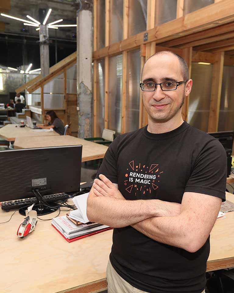 Adrián Jarabo, beca Leonardo 2018 en TIC de la Fundación BBVA.KIKE PARA.